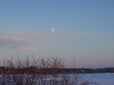 Most winter days the moon doesn't bother to go down